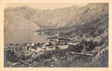 Kotor Yugoslavia Town Scenic View Real Photo Antique Postcard J65982