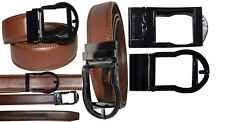 "Men's belt. Leather Dress Belt Comfort Strap Automatic Lock New buckle up to 43"""