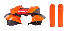 NEW Polisport KTM SX 2015 Plastic Kit & Fork Guards Orange Black White Motocross