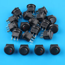 20 x On/Off 12v Led Dot Round Rocker SPST Toggle Switch Mixed Set Car Boat Light