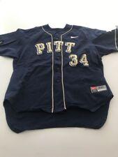 Game Worn Used Pittsburgh Panthers Baseball Jersey Pitt Nike Size 50 #34
