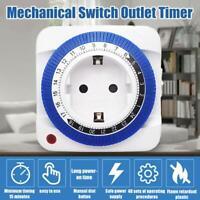 24Stunden mechanischer Zeitschaltuhr-Steckdosenschalter Steckdosen-Zeitschaltuhr