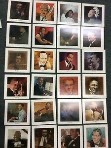 """pictures of early Jazz legends 24 Framable 8""""by8"""""""