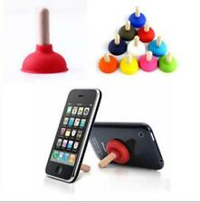 6pcs Plunger Holder Sucker Toilet Shape Wood Stand For Cell Phone iPhone CM  Tf