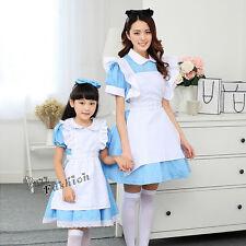 Halloween Alice Blue And White Dress Lolita Children Girls Cosplay Costume Party