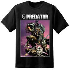 Para hombre Depredador Estilo Libro de Cómics Camiseta película Aliens Xenomorph Nostromo Yautja