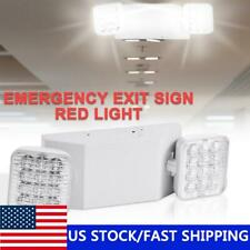 Led Emergency Exit Light Double Dual Head Home Office Market Ul Lighting Lamp Us