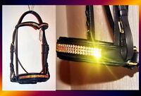 FSS German Crystal SUPER BLING Comfort BRIDLE V Vee Custom Made Sparkle NEW