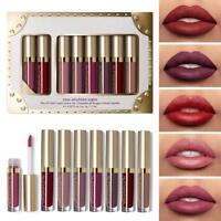 8pcs/set Women Matte Shimmer Liquid Lipstick Waterproof  Long Lasting Lip Gloss