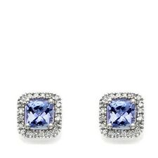 RARITIES CAROL BRODIE 1.12CT TANZANITE AND DIAMOND STUD EARRINGS HSN SOLD OUT
