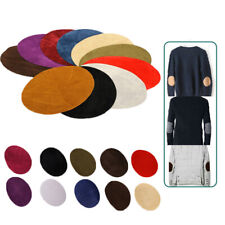 DIY Oval Fabric Patch Elbow Applique Patches Iron-on Knee Suede Clothes Decors