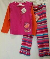 HANNA ANDERSSON Pink Striped Floral 2 PC Outfit Size 110 4 NWT 100% Cotton