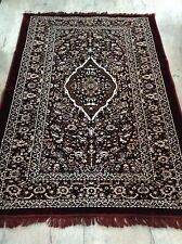 Vintage Viscose Red Maroon Tufted Floral Area Rug Carpet Size 5x7 feet