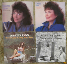 LOT of 4 LORETTA LYNN 45rpm Picture Sleeves (only)