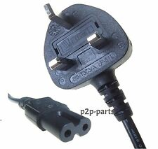 UK POWER CABLE FIGURE OF 8 LEAD C7 FOR LAPTOP STEREO CD PLAYER PS2 SKY BOX CABLE