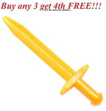 ☀️NEW! Lego Weapon Gold Great POINTED SWORD Kingdoms Castle Knight Minifig