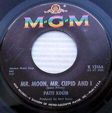 PATTI KOGIN Mr moon Mr cupid & I / Bless em all 1963 teen POPCORN M-G-M 45 e3855