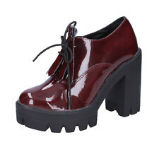 women's shoes OLGA RUBINI 10 (EU 40) ankle boot burgundy patent leather BX808-40