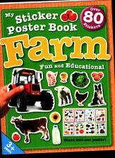 Farm - Sticker Poster Activity Book - NEW