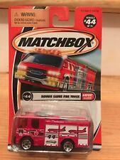 "2002 Matchbox #44 Airport Alarm Series (red) ""DENNIS SABRE FIRE TRUCK"" VHTF  T4"