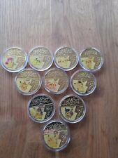 More details for full set of 10 pokemon coins in sealed capsules