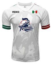 Jersey Mexico Rieleros de Aguascalientes100% Polyester White/Grey_Made in Mexico