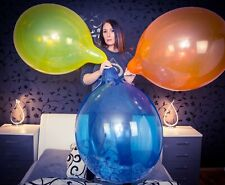 "5 x Tuftex 24"" Riesen-Luftballons * gemischte Kristallfarben * crystal-colors *"