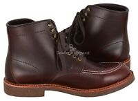 Vintage Classic Look Leather Boots High Ankle Dark Brown Western Look