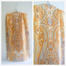 Classy orange 100% pure silk paisley print women men long scarf P702312