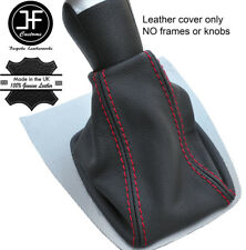 Red Stitch Top Grain REAL LEATHER GEAR GAITER FITS FORD FOCUS C MAX 2003-2007