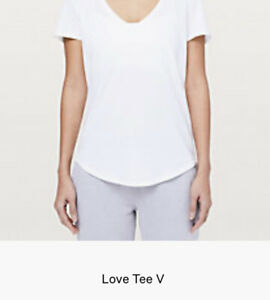 Lululemon Women's Love T Size 12 White