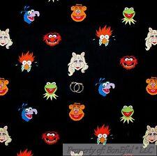 BonEful FABRIC Cotton Jim Henson Muppet Miss Piggy Kermit Frog Fozzy Bear SCRAP