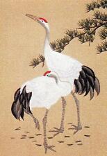 Tokyo Bunka Shishu 253 Two Cranes Japanese Punch Embroidery Kit