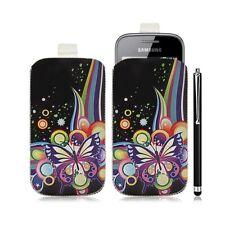 Housse coque étui pochette pour Samsung Galaxy Gio S5660 avec motif HF05+ stylet