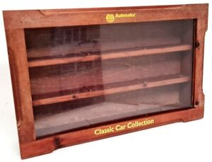 Wooden Display Cabinet for 1/43 Scale Model cars - Holds 9 Models / Wall mounted