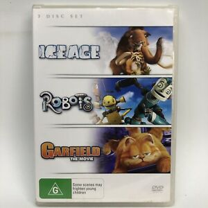 Ice Age / Robots / Garfield - 3 DVD Set - AusPost with Tracking