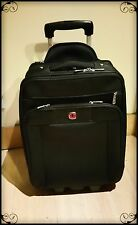 "Mint! SwissGear Geneva 20"" Black Carry On Luggage 15 Compartments W/Garment-Red"