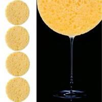 5Pcs Natural Wood Fiber Face Wash Cleansing Round Sponge Beauty Makeup Pads Sale