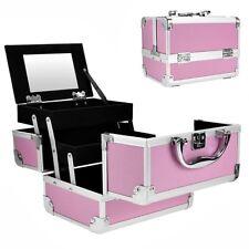 MaletíN Para Maquillaje Con Espejo Caja De CosméTicos Estuches De (Rosa) Viaje