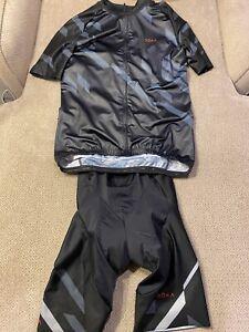 Men's roka elite aero cycling kit jersey & bib shorts medium m