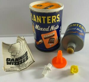 Rare 1970 Vintage Mattel Planters Mixed Nuts Canned Wizzzer Toy