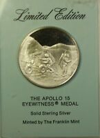 The Apollo 15  Sterling Silver Space Franklin Mint Proof Limited Edition Medal