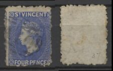 No: 76760 - ST VINCENT - A VERY OLD & INTERESTING 4 P STAMP - USED!!