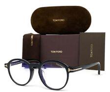Tom Ford FT5606-B 001 Black / Blue Block 49mm Eyeglasses TF5606-B