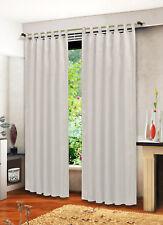 Blickdicht Vorhang Reliefprägung, Schlaufen, 2 Stück 245x135, 20381 Weiß