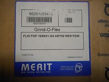 "16"" x 6"" x 1-3/4"" 240 Grit Merit Grind-O-Flex Large Diameter Flap Wheel"