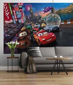 Large Wall mural Wallpaper Disney Cars Lightning Mcqueen bedroom - DAMAGED