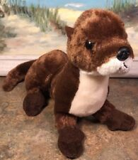 "Otter Stuffed Plush Animal NWOT 11"" Head To Tip Of Tail"