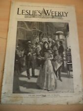 leslies weekly OLD ANTIQUE MAGAZINE april 1899 american history caloocan cuba