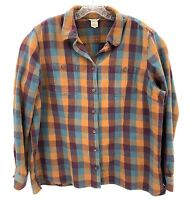 Duluth Trading Co. Mens Shirt 2X Plaid Long Sleeve Button Up Shirt Sz 2XL